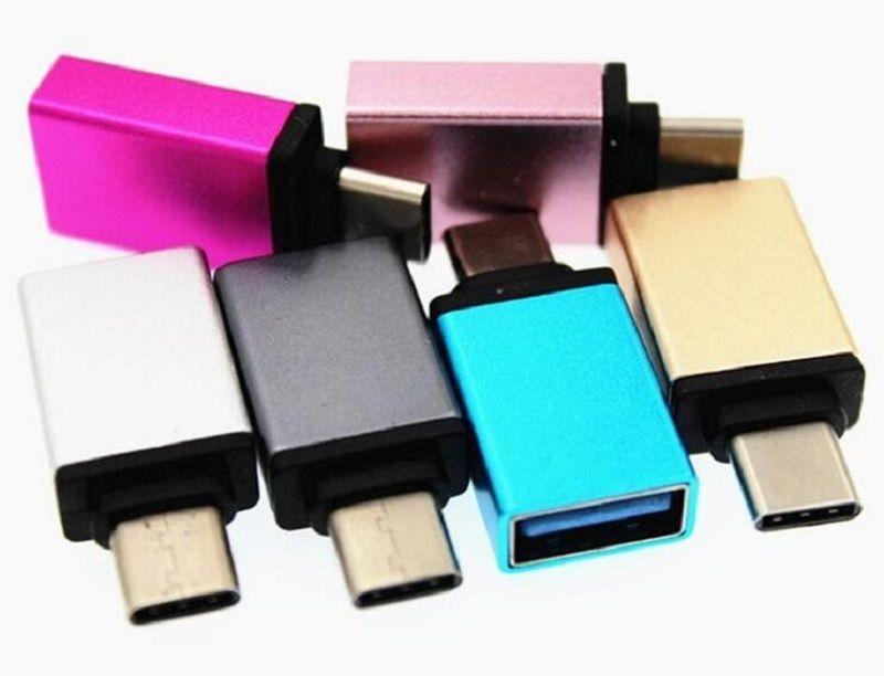 Tipo C USB 3.0 OTG Conversor Adaptador Para LETV Nokia Pad Huawei Honra ZUK PRO LG Tipo C OTG Cabo Adaptador OTG