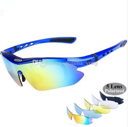 a88559d292c 2019 Cheap Best Polarized Cycling Glasses 5 Lens Bike Glasses Eyewear UV400  Outdoor Sport Sunglasses Men Women Oculos Gafas Ciclismo From Gemma yong