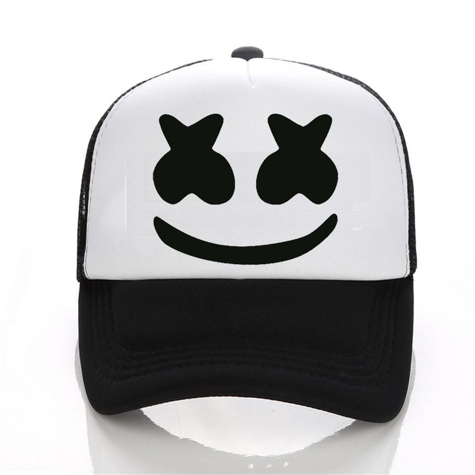 596e802986d39 Wholesale New Arrived Marshmello Face Men Baseball Cap Boy Casual Homme Cap  Black White Hat Snapback Hat Women Cap Cap Hat Flat Caps For Men From  Value222