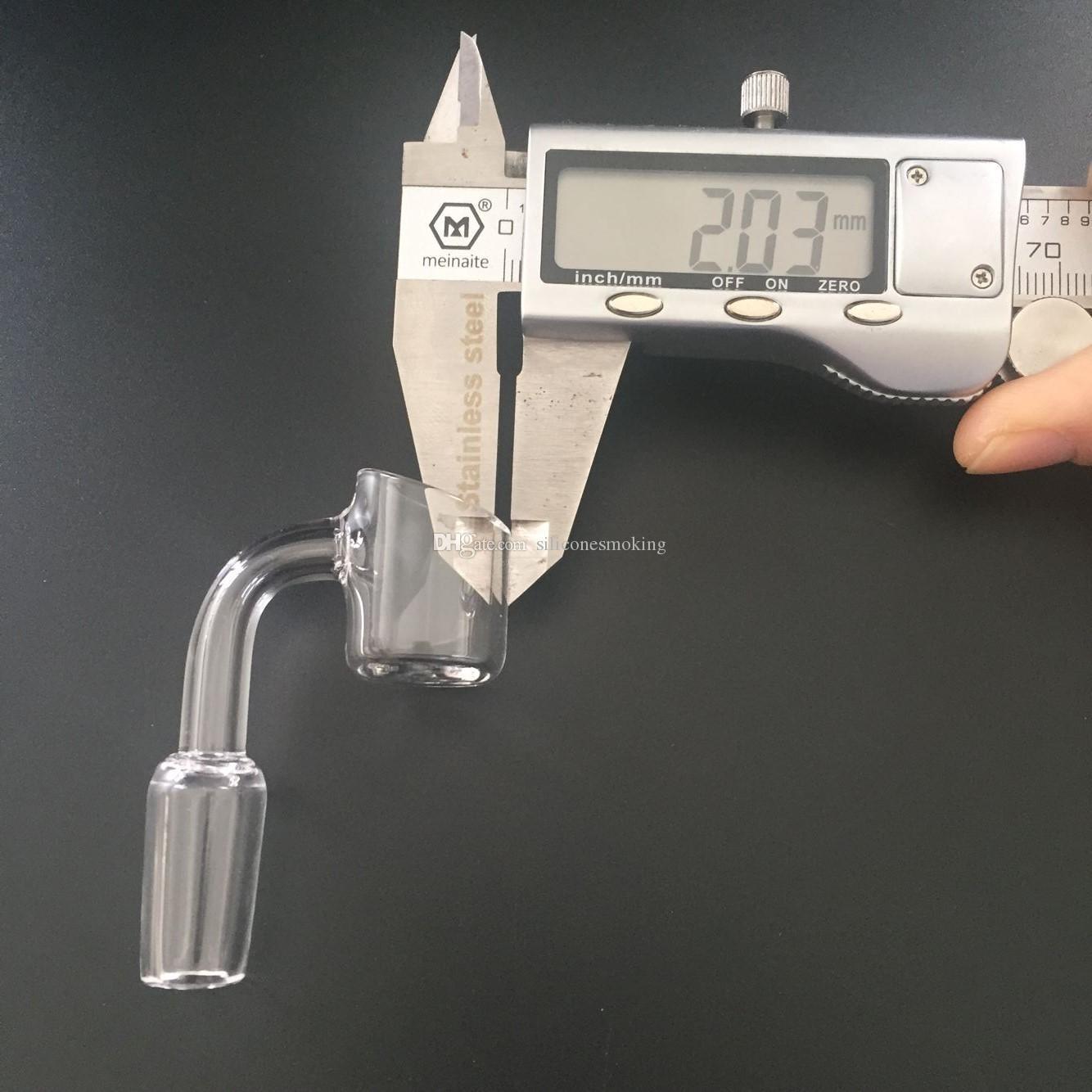 2mm 90 Grad-starker Quarz-Banger 10mm 14mm 18mm männlicher weiblicher freier Gelenkquarznagel für Wasserrohr 100% realer Quarz geben Verschiffen frei