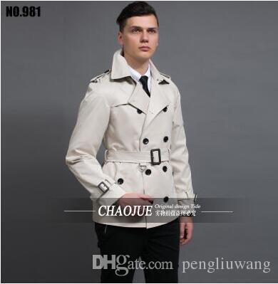 2017 2017 New Designer Slim Sexy Short Trench Coat Men Overcoat ...