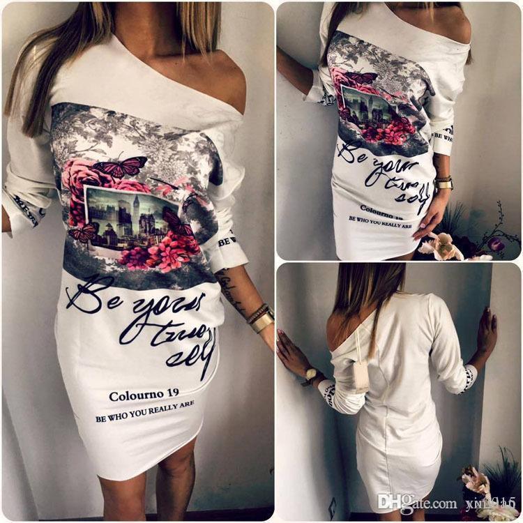 Nuevas mujeres Dashiki vestido blanco Sexy Neck Party Club vestidos lápiz Bodycon Casual elegante delgado Vintage impreso vestido vestido