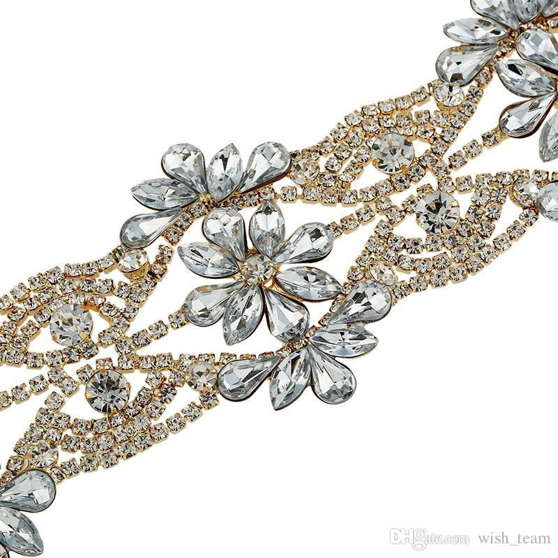 Rhinestone choker declaración collares para las mujeres Fashion Gargantillas 2017 Collar de la joyería de la flor del partido Chunky Necklace Collier joyería de la boda