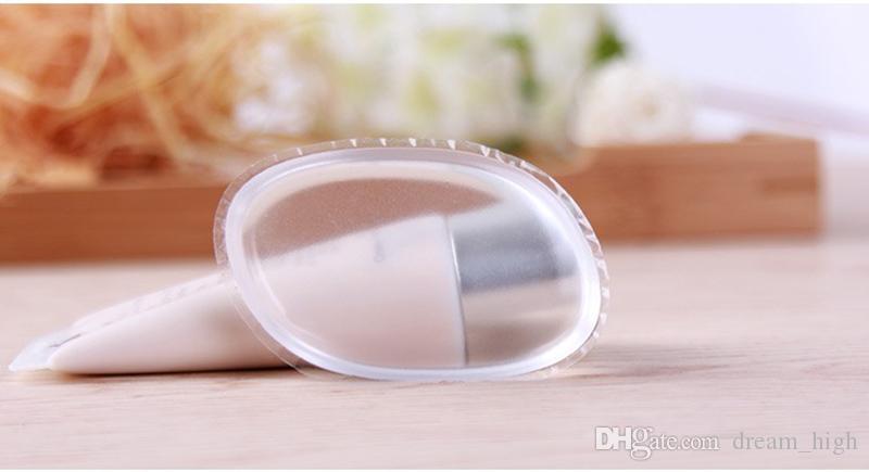 Poudre de gelée de silicone transparente transparente Outil de fondation pour le visage Ellipse Puff cosmétique Pas l'éponge Poudre Mélangeur Zéro Déchet BB Outil de Maquillage
