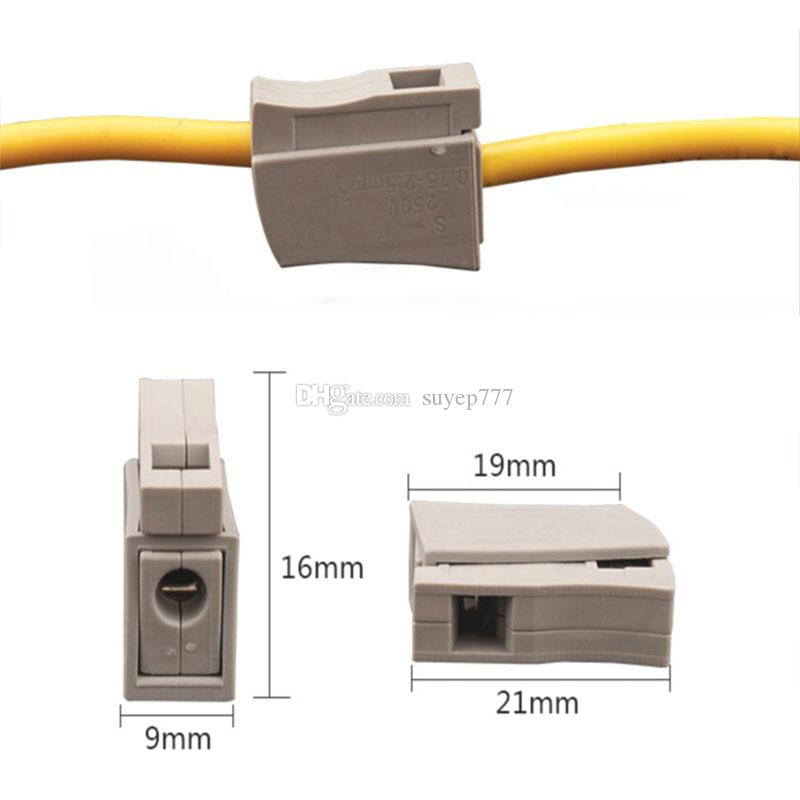 Single Push Wire Lighting Connector Cage Clamp PCT-111 224-101 gray