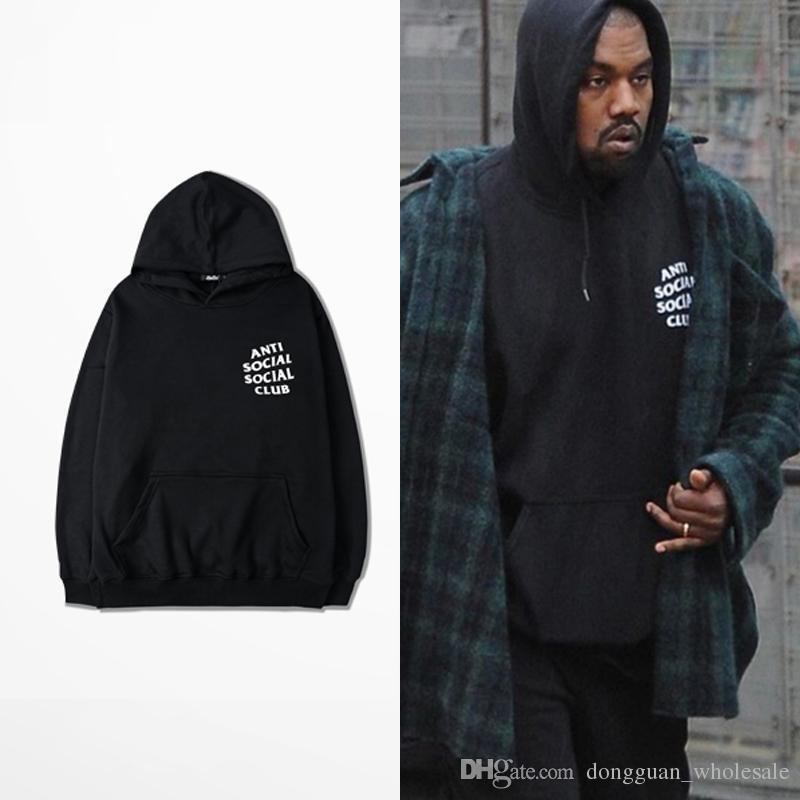 2018 Anti Social Club Hoodies Black Pink White Hoody Sweatshirts Kanye West Style Streetwear Men Yhwy0071xx From Top333333 766