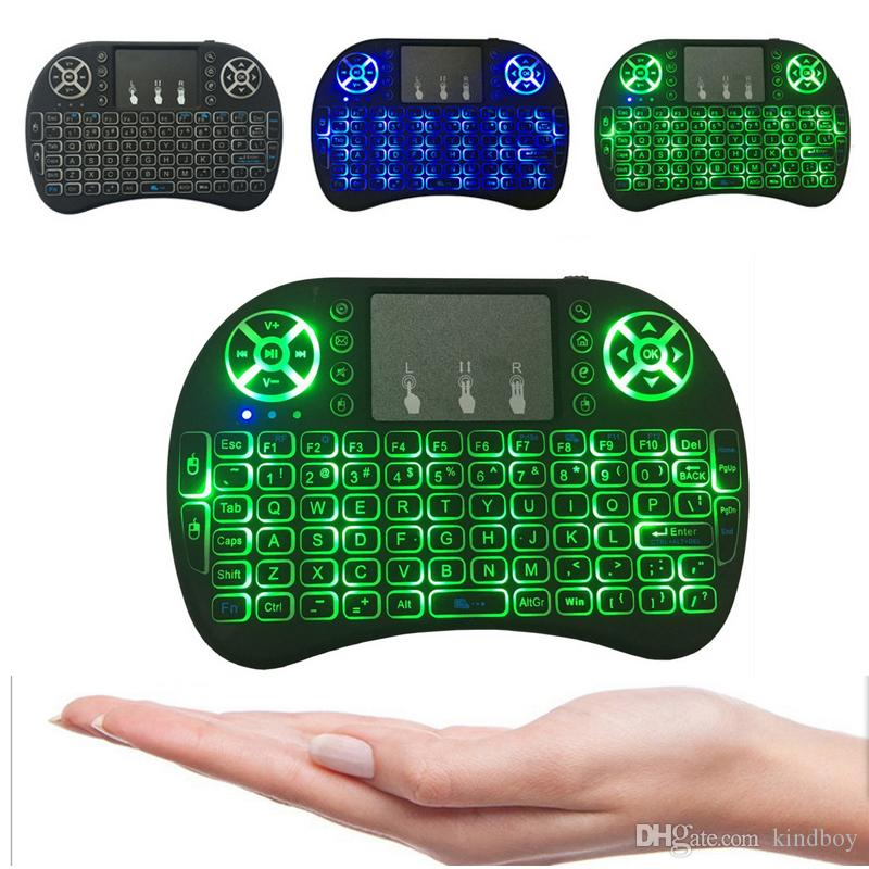fe8b3af173d Mini I8 Wireless Keyboard Backlight Backlit 2.4G Air Mouse Keyboard Remote  Control Touchpad For Smart Android TV Box Notebook Tablet Pc Qwerty Keyboard  ...