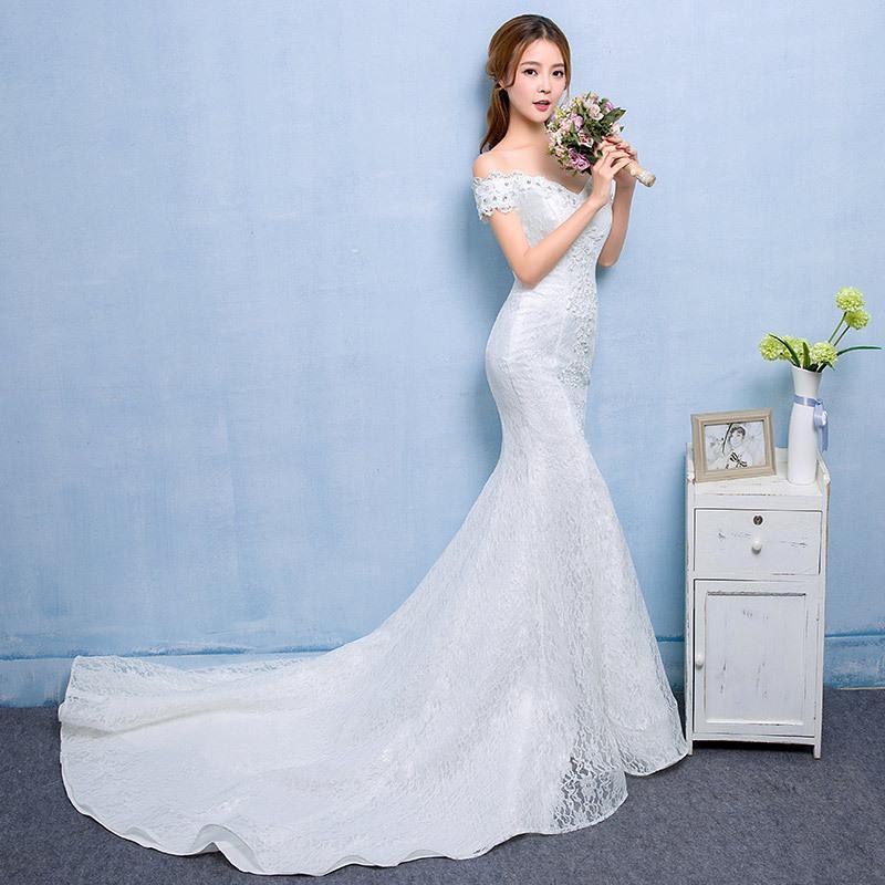 сексуальные кружева свадебные платья свадебные платья 2017 Китай русалка свадебное платье с поездом интернет-магазин фарфора dhWED90001