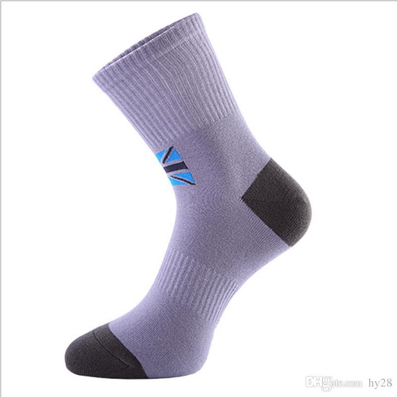Бесплатная доставка элитный мужской хлопок пот носки дышащий дезодорант бизнес носки Мужские спорта на открытом воздухе носки горячие