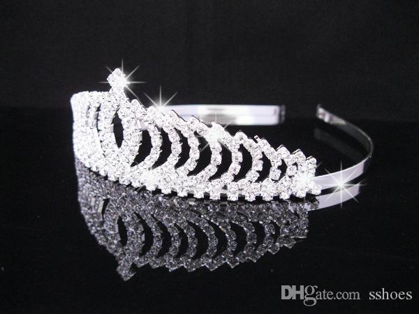 2017 Cristal Tiara Crows Acessórios De Cabelo Noiva Mulheres Rhinestone Casamento Jóias Headbands Hairbands Crowns Crowns Headpieces para festa