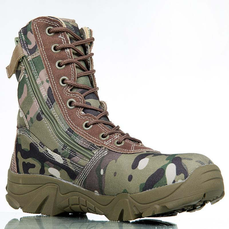 6db55ced79056 Outdoor Sport Army Men's Tactical Boots Camo Male Combat Shoes Military  leather Boots Enthusiasts Marine Shoes