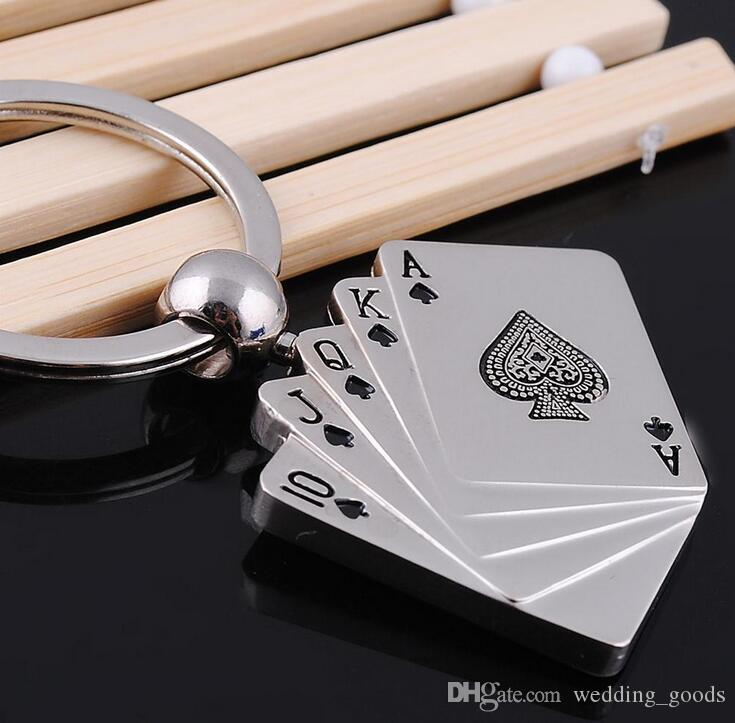 High quality Creative Poker Keychain Advertising LOGO Personalized Gifts Small Commodities KR036 Keychains a