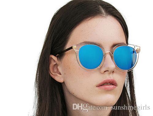 Style de la mode V Marque DIDI A Lunettes de soleil polarisées Femmes Marque Design Lunettes de soleil Oculos De Sol Feminino soleil monture ronde lunettes avec boîte