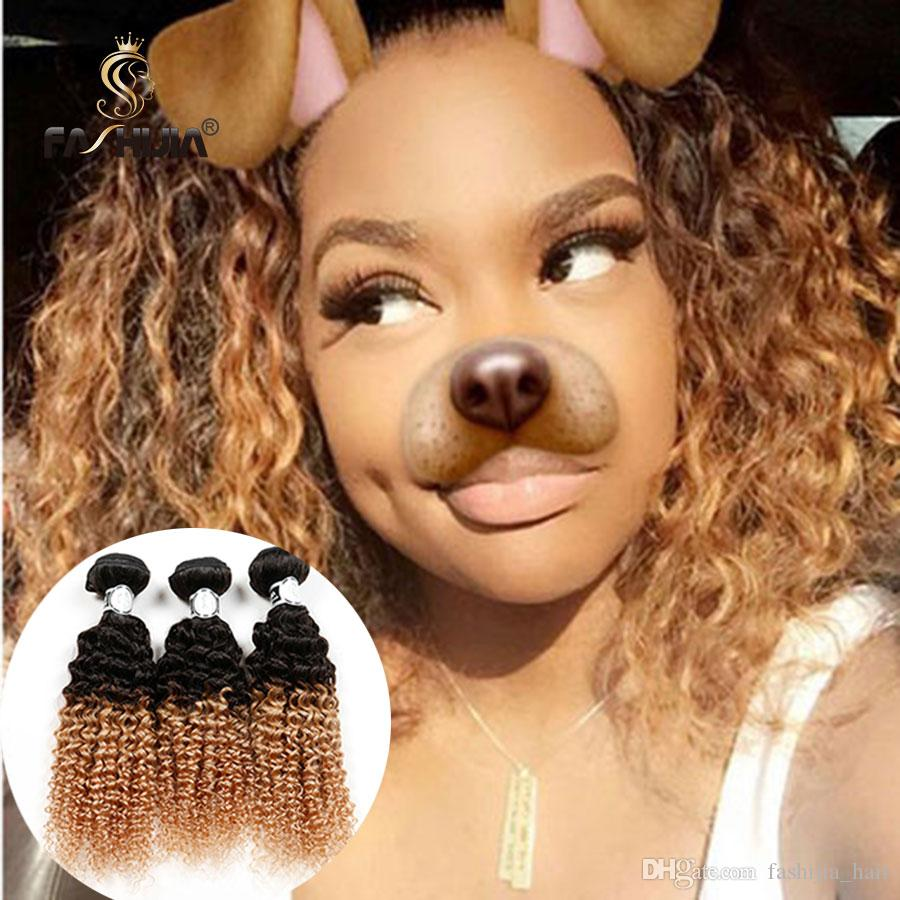 Cheap two tone honey blonde brazilian hair weave bundles brazilian cheap two tone honey blonde brazilian hair weave bundles brazilian kinky curly virgin hair jerry curl 1b27 blonde afro kinky curly hair weft hair pmusecretfo Gallery