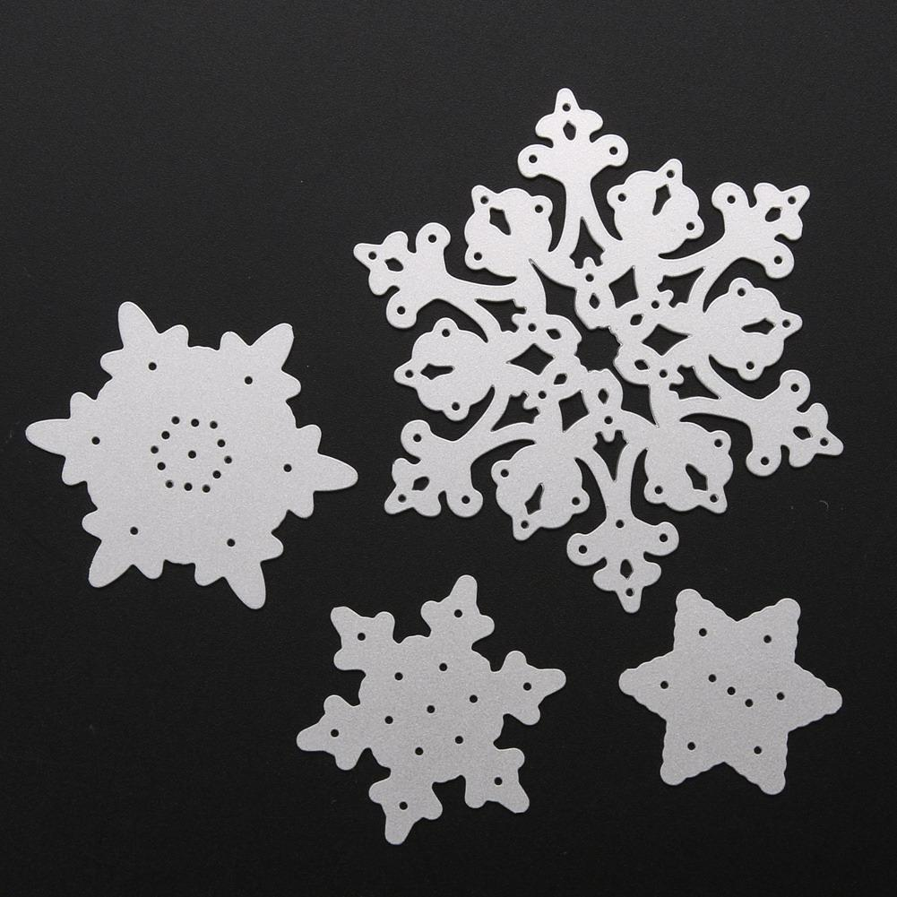 Snowflake Cutting Dies Christmas Metal Cutting Dies Stencils Die Cut for DIY Scrapbooking Album Paper Card Embossing