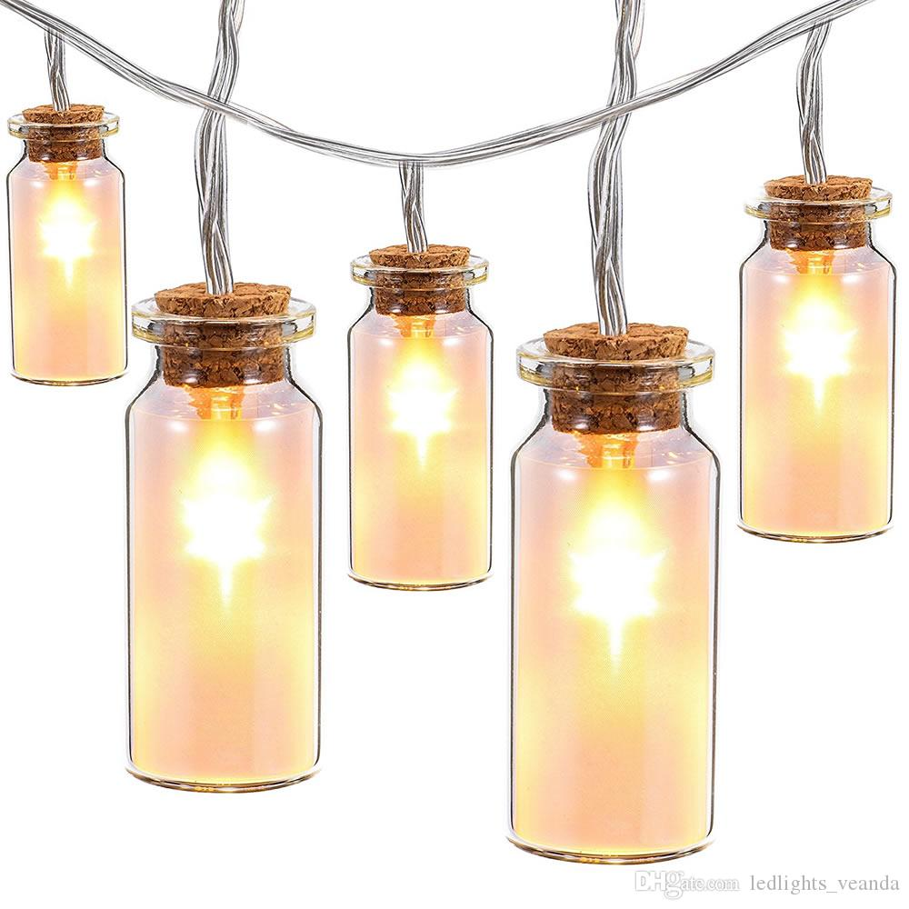 7.2ft/2m With 20 Led Glass Jar Fairy String Lights Warm/Cool White ...