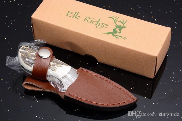 Browning Elk Cume Lâmina Fixa Faca Zytel Handle Outdoor Camping Caça Survival Bolso Faca com Estojo De Couro Melhor Presente Ferramentas EDC