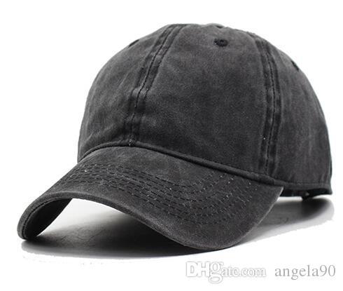 a6fa593f0db40e Women Snapback Caps Men Baseball Cap Hats For Men Casquette Plain Bone  Gorras Cotton Washed Blank Vintage 6 Panel Baseball Caps Sun Hat Cap Hat  From ...