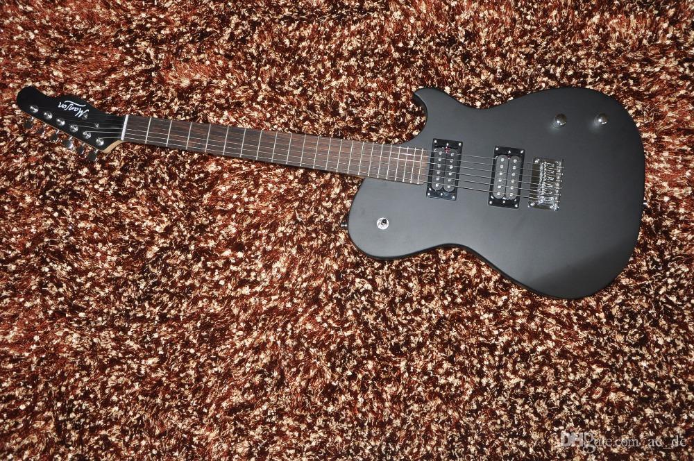 custom tl manson satin matte black electric guitar active pickups 9v battery box string thru. Black Bedroom Furniture Sets. Home Design Ideas