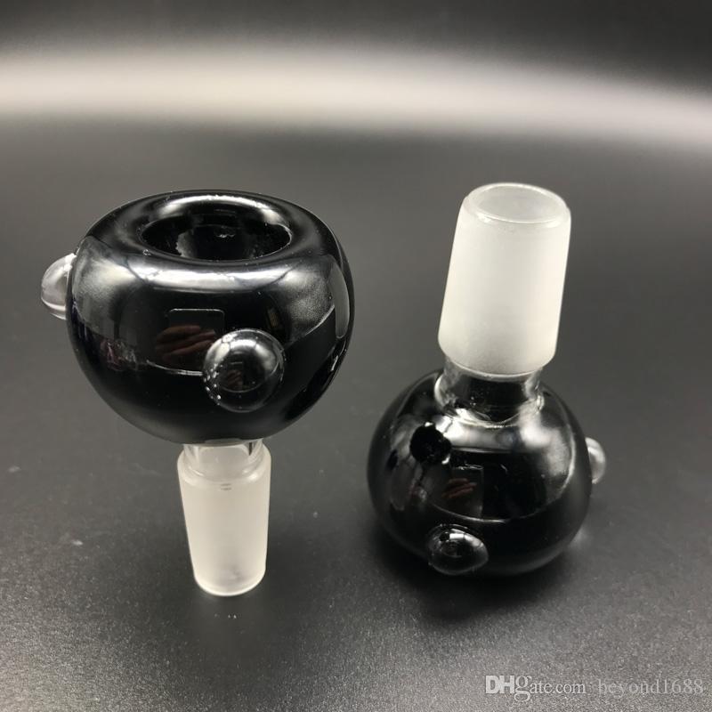En gros Mâle 14mm 18mm Bols En Verre Pour Bongs Clair Noir Rose Bleu Bong Bong Bol Bulle Pour L'eau Pipes Verre Bongs Dab Rigs