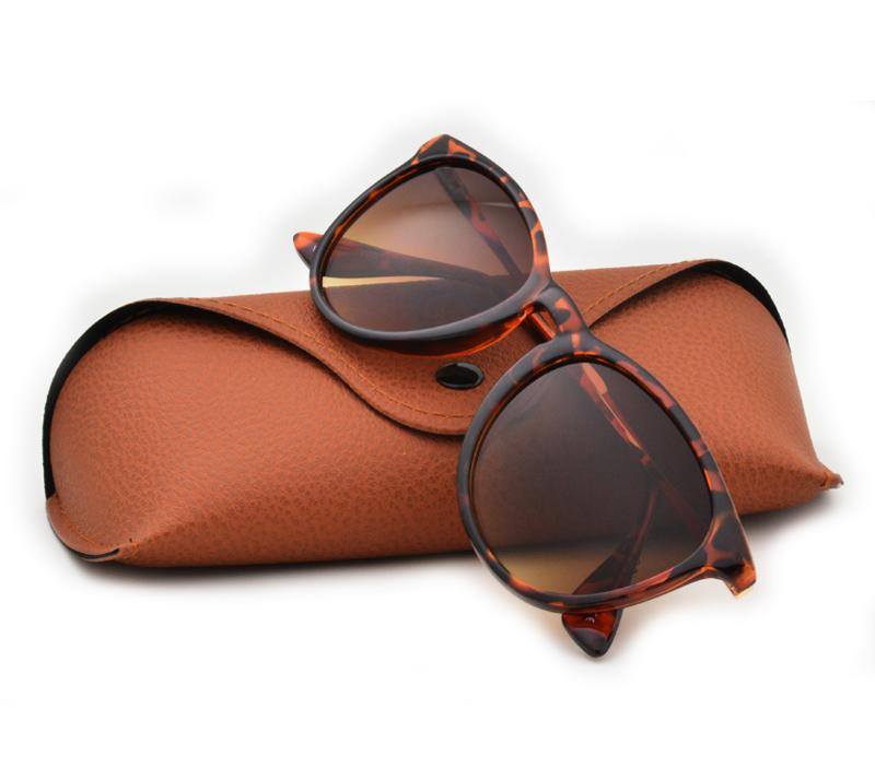 Top Quality New Fashion Sunglasses For Man Woman Erika Eyewear Brand Designer Sun Glasses Matt Leopard Gradient UV400 Lenses Box and Cases