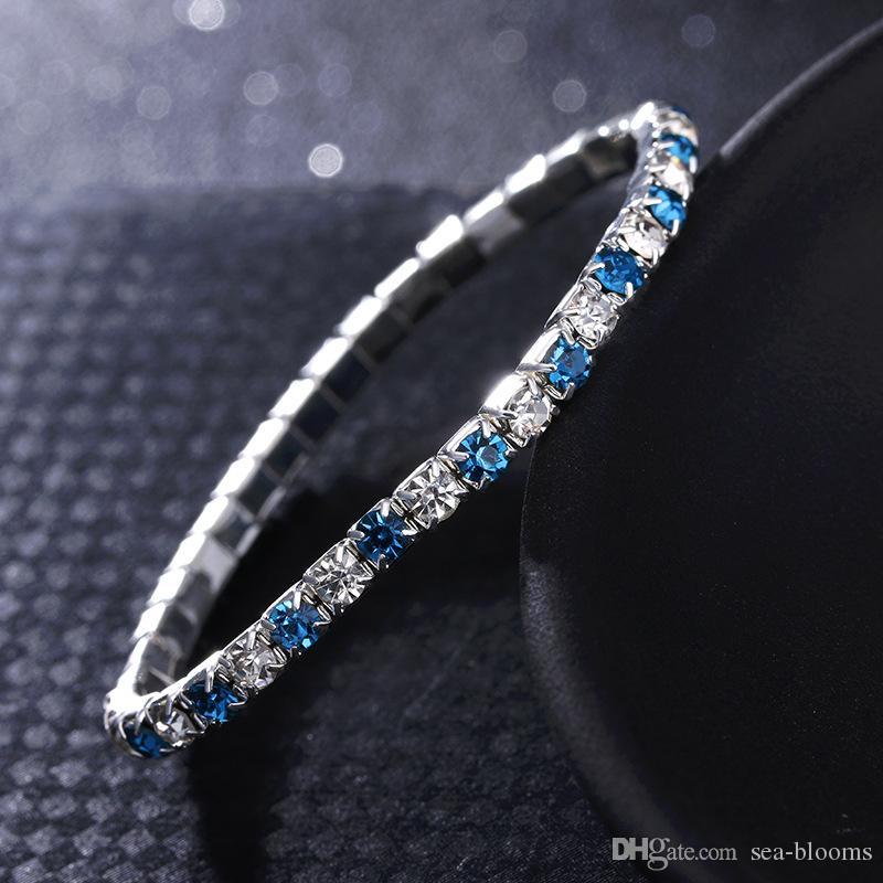 7 Styles Cubic Zirconia Classic Bracelet Jewelry Accessory Inlaid Diamond Tennis Charm Bracelet Support FBA Drop Shipping D147S