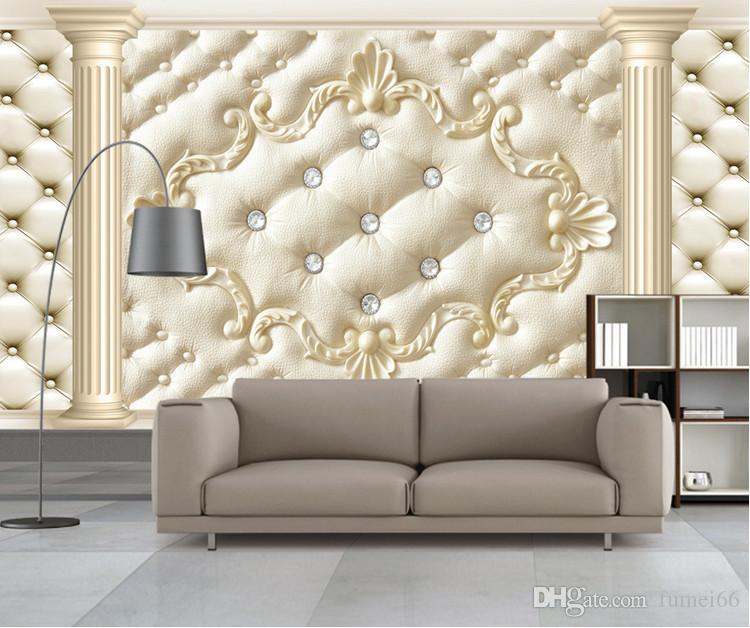 3D grande affresco soggiorno TV sfondo sfondi europeo colonna romana morbida borsa da parati carta da parati senza soluzione di continuità