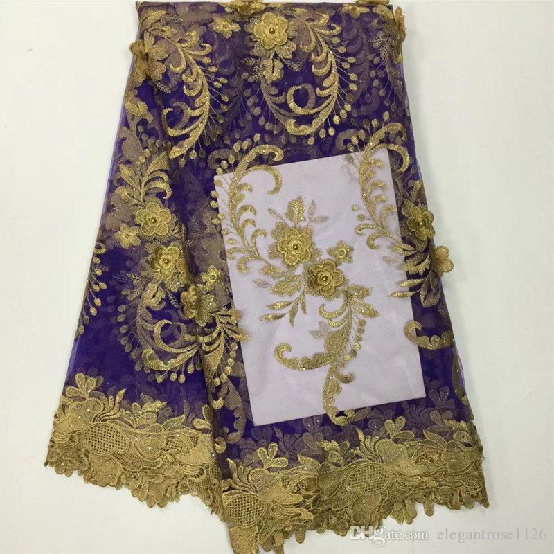 Африканская тюлевая кружевная ткань французская кружевная ткань высокого качества с камнями нигерийская вышивка тюль французское кружево PL699954540559