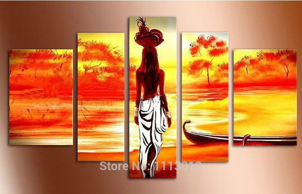 High Quality Nude Women Tree Oil Painting On Canvas Sets Home ...