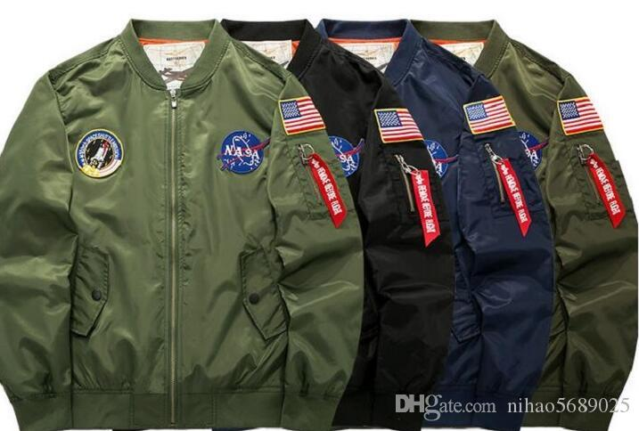 2017 Jacket Military Style Flight Pilot Men Windbreakers Mens ...