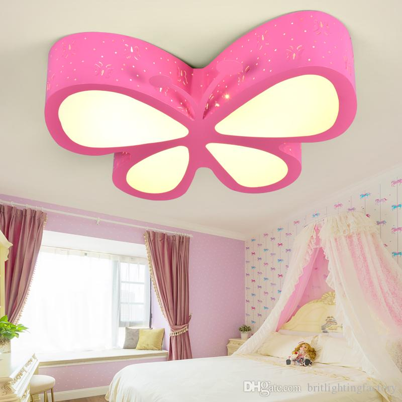 2018 Childrenu0027S Room Ceiling Lights Bedroom Lamp Led Creative Personality Butterfly  Lighting Fashionable Girls Princess Rooms Led Ceiling Lamps From ...
