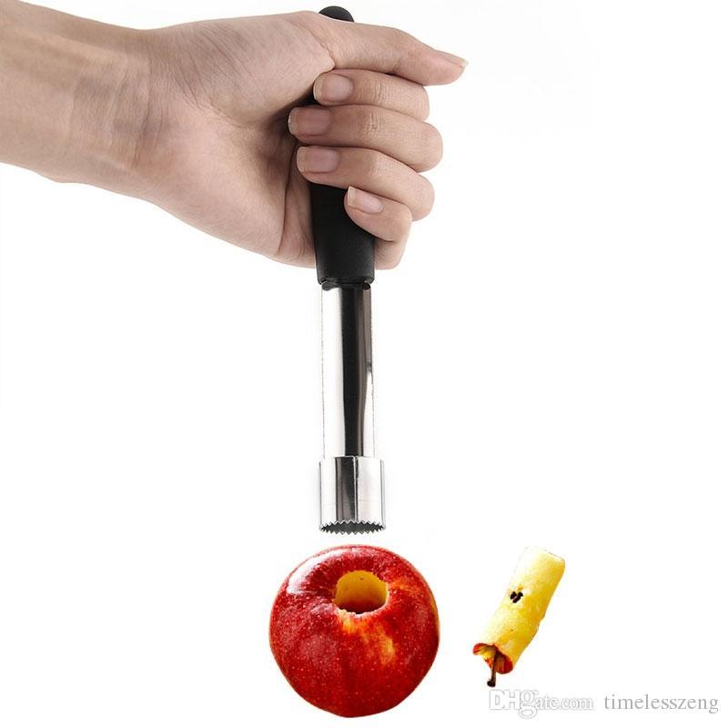 Acero inoxidable nuevo removedor de la base de fruta corer pera de Apple Fácil eje de torsión PP herramienta de la cocina Gadget