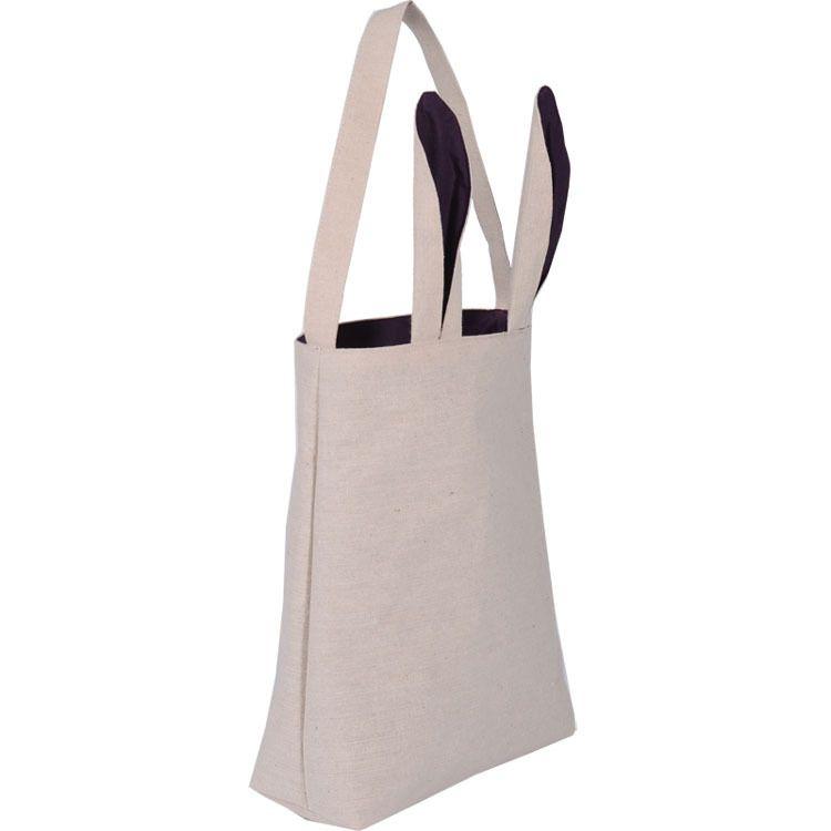 Neue Ostern Hasenohren Taschen Leinwand Ei Verpackung Handtasche Taschen Für Kinder Erwachsene Festival Party Christams Halloween Geschenk 25,5 * 30,5 * 10 cm PX-B36