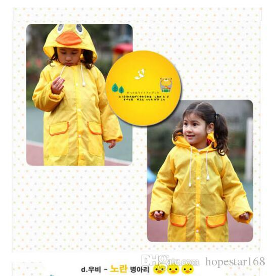 i Linda Funny Rain Coat Kids Raincoat Rainwear Rainsuit Kids Waterproof Animal WaterproofHOT