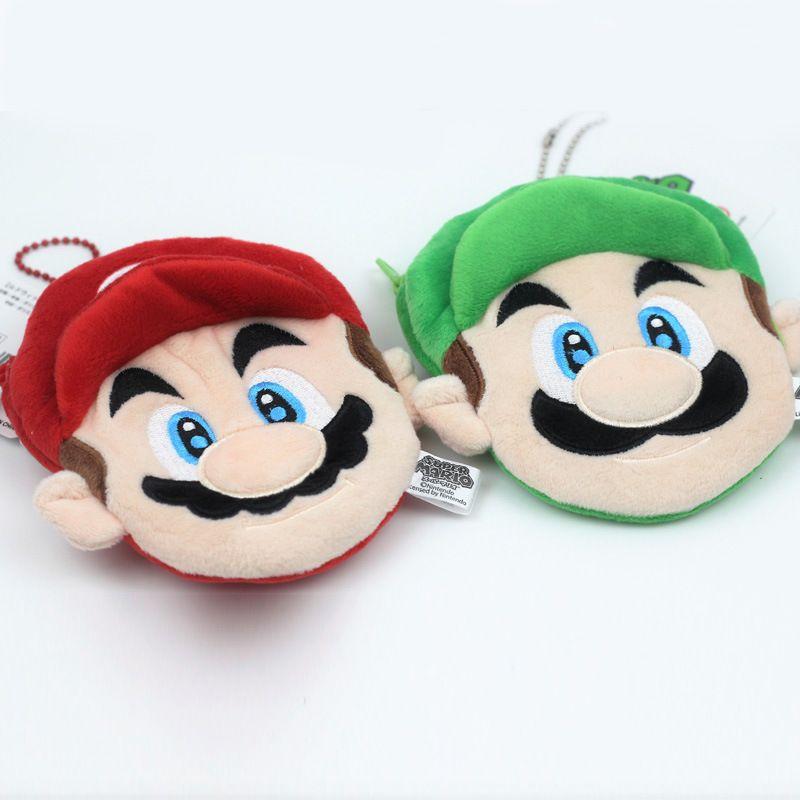 Niños Mario Coin Purse Kid dibujos animados bolsas de peluche Mario Bros Monedero lindo colgante C1729