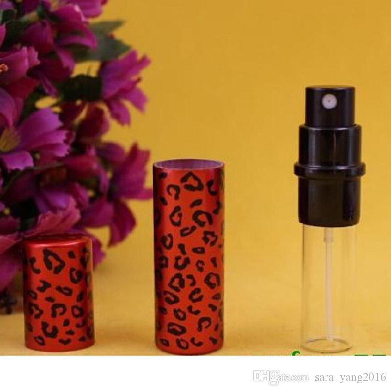 5ML Unisex Refillable Hot Colorful Leopard Print Metal Mini Perfume Bottle Perfume Atomizer WA2259
