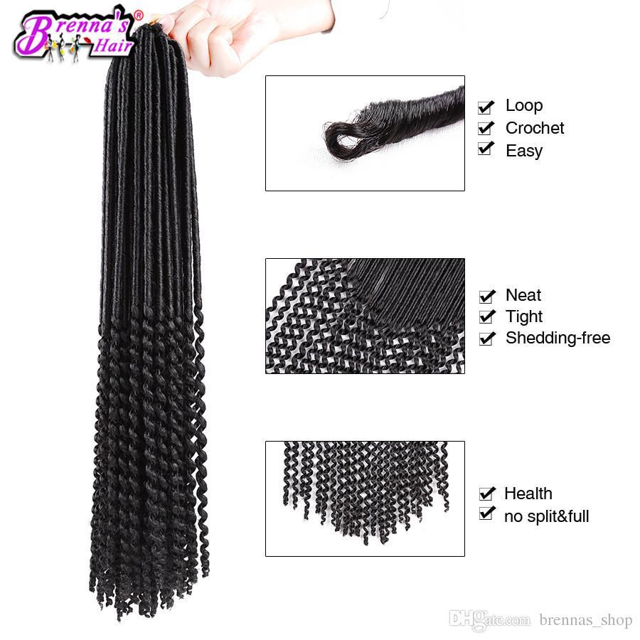 largo Encanto negro rastas pelo sintético suave terror crochet trenzas pelo janet colección 2X Havana Mambo twist pelo