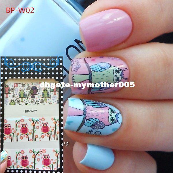 Born Pretty Bp W02 Cute Owl Nail Art Water Decals Transfer Stickers