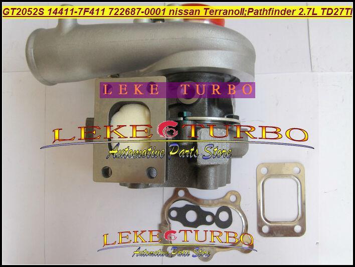 GT2052S 14411-7F411 722687-5001S 722687 turbo Nissan Terrano II 2001 Pathfinder 2.7L 01-05 TD27TI Turbocharger (3)