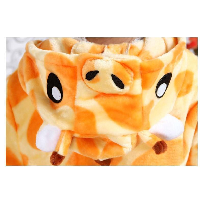 الأطفال تصميم الزرافة kigurumis الطفل الحيوان تصميم بذلة الأولاد قطعة واحدة مجموعة ملابس خاصة لل 3-12 سنوات منامة الفتيات القطن nightwe