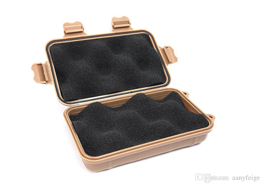 Small Size Outdoor Travel Shockproof Plastic Waterproof Box Storage Case Airtight Container Carry Box For EDC Tools