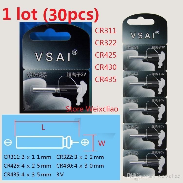 1 Los CR311 CR322 CR425 CR430 CR435 3V PIN Art Lithium Li Ion Batterie 3 Volt Li-Ion Batterien Köderfischenrohr VSAI Freies Verschiffen