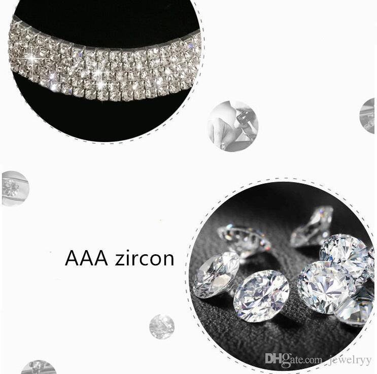 Gioielli da sposa di lusso Monili da sposa multi strato di cristallo di strass strass Collana Collana Collare Shinning Collane le donne Party