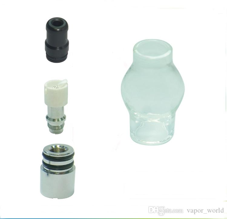Glass Globe Atomizer Dry Herb Vaporizer Replacement Wax Vapor Tank with Metal Ceramic Coil Head for EGO T Evod Battery