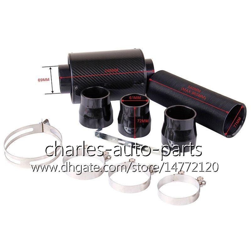Auto universale Filtro aria in fibra di carbonio KRICNG Kit induzione alimentazione fredda Prese d'aria di alta qualità Kit filtri aria in fibra di carbonio Kit completo Cool