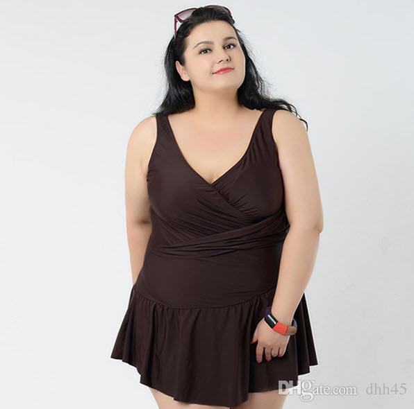 a8a805f9bad 2019 Plus Size Swimwear Women Big Skirt Large Size One Piece ...