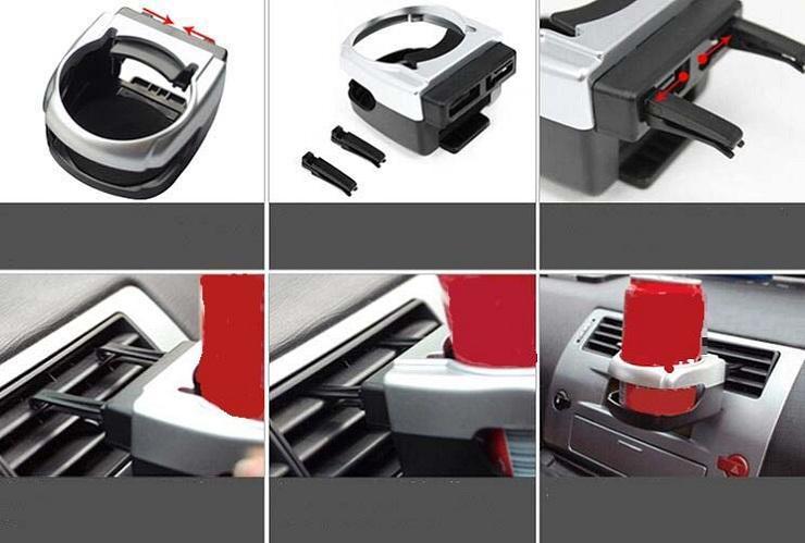 Clip-on Auto Auto Camion Véhicule Air Condition Vent Vent Peut Bouteille D'eau Potable Tasse À Café Mont Support Titulaire Accessoires
