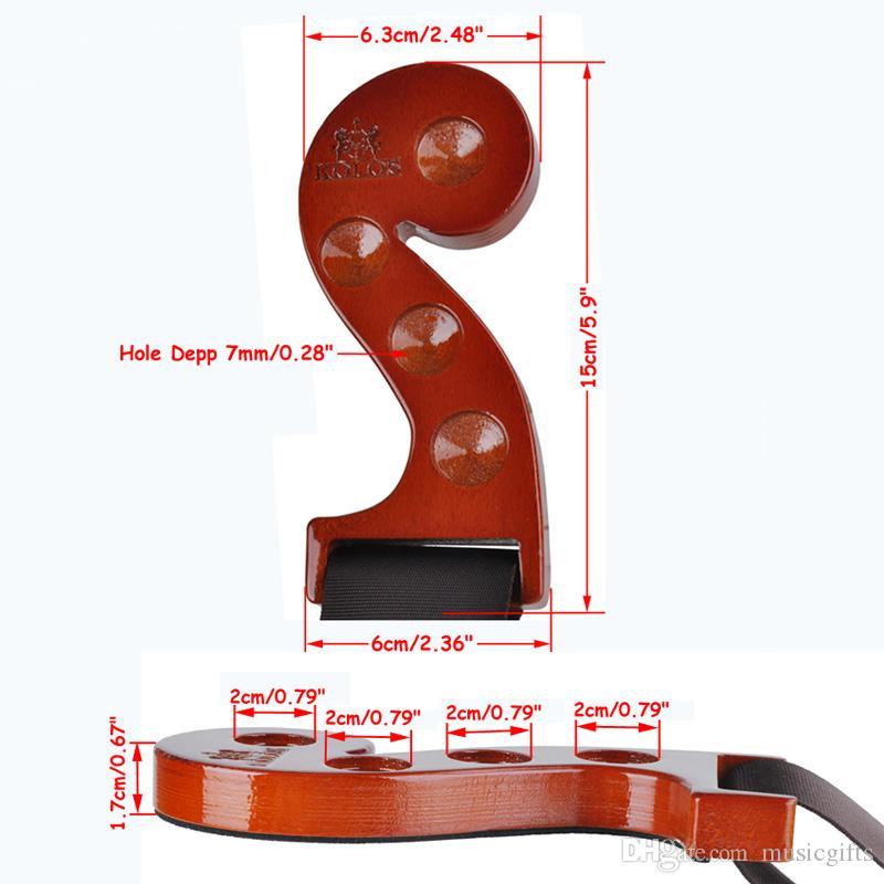 New Hardwood Cello Endpin Rest antiscivolo Anchor Holder Stop Muisc Note Design 4 fori