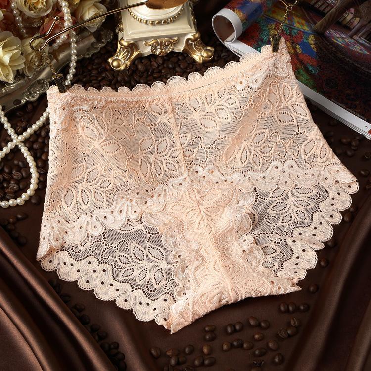 c2b5f27f5d32 Moda cintura alta nueva ropa interior transparente sexy ahueca hacia fuera  los escritos del cordón de la entrepierna de algodón bragas transpirable ...