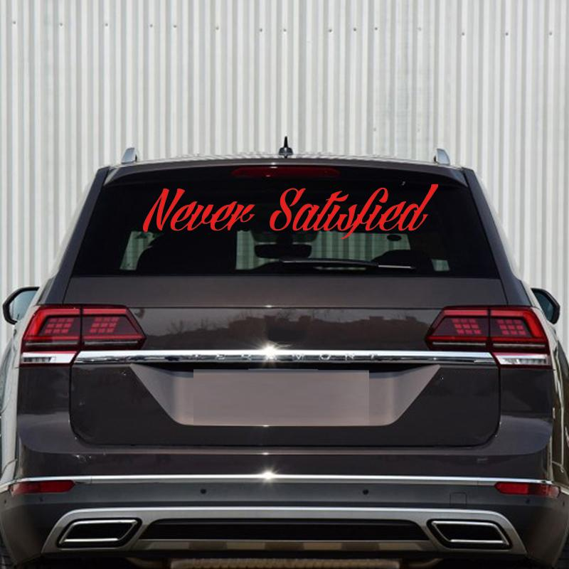 2018 car stying never satisfied sticker jdm honda race car truck window windshield banner decal rear windows sticker jdm from xymy777 11 72 dhgate com